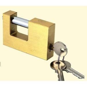 Candado anticizalla con llaves, 80 milímetros