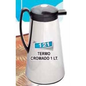 Termo cromado de 1 litro