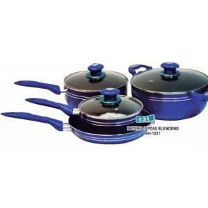 Juego de ollas mlflon 7 piezas azul