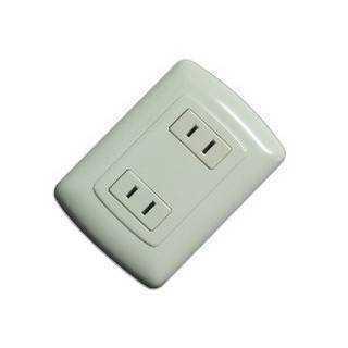 Interruptor triple, Agene, para empotrar, color blanco